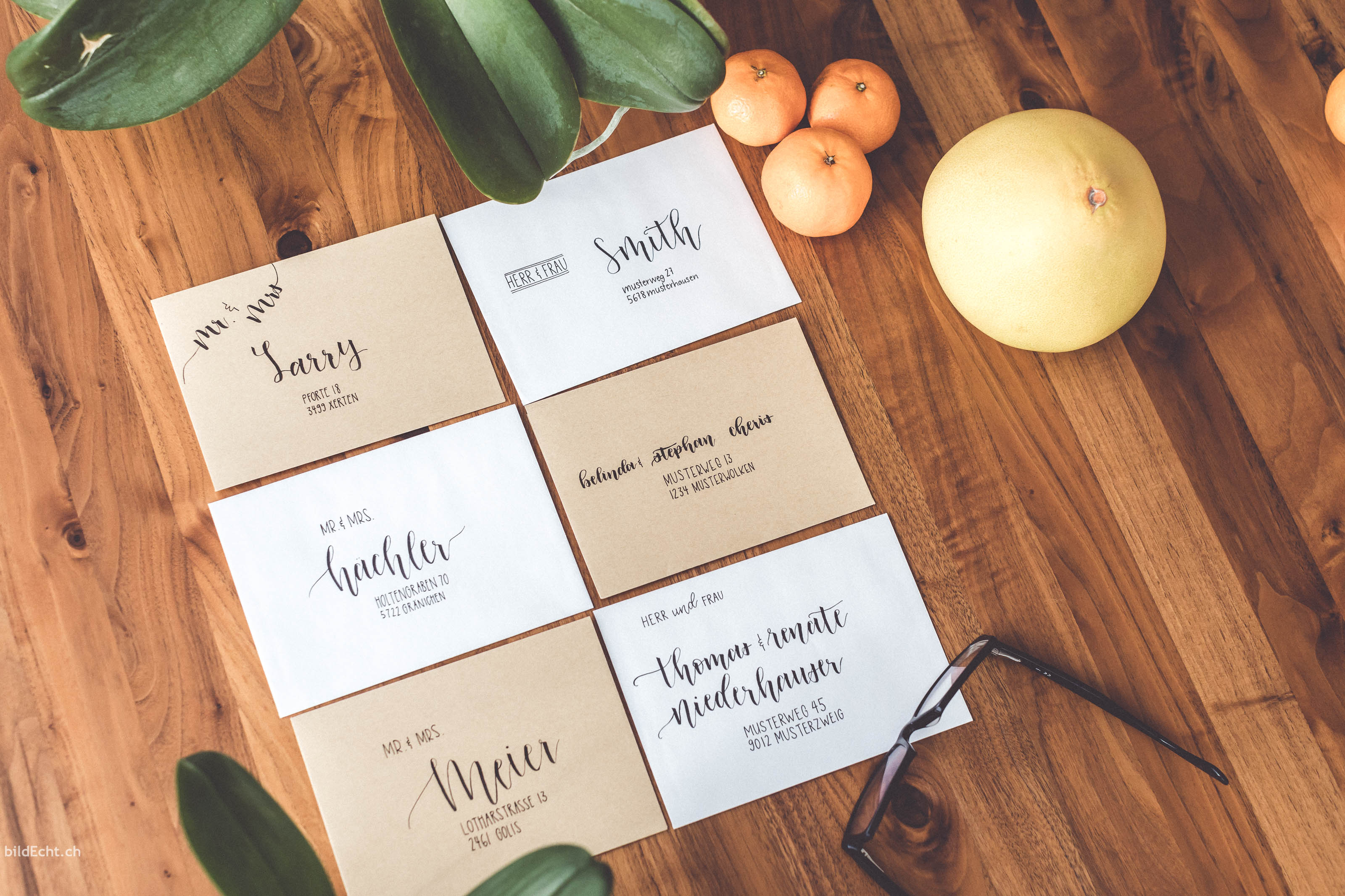 Lettering Angebot für Hochzeitseinladungen und Hochzeitskarten